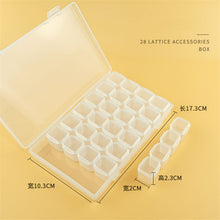 Load image into Gallery viewer, 28 Slots Decoration Plastic Bead Organizer Jewelry Box