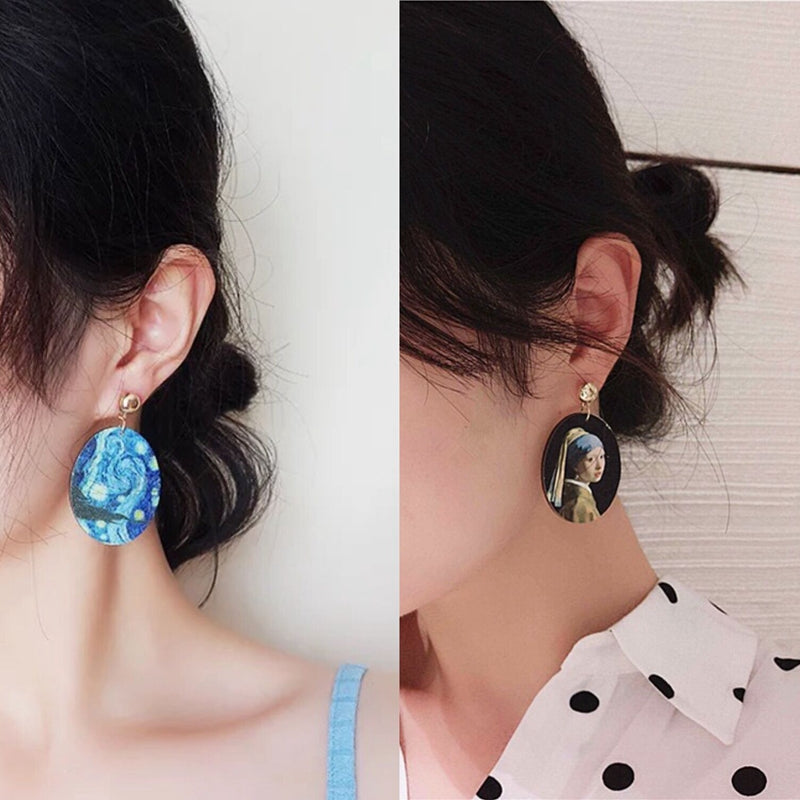 Retro Style Starry Sky Ear Drop Earring