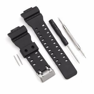 Watch Strap Band With Pins Fits For Casio G Shock 16mm GA-100 G-8900 GW-8900