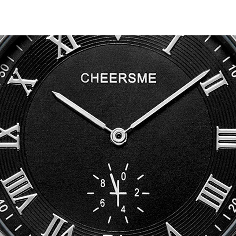 CHEERSME 256 Ultra Thin Dial Design Leather Men Wrist Watch