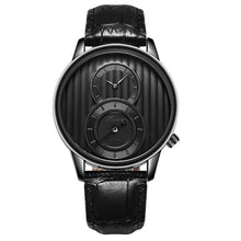 Load image into Gallery viewer, Fashion Organ Two Creative Dial Leather Men Quartz Watch