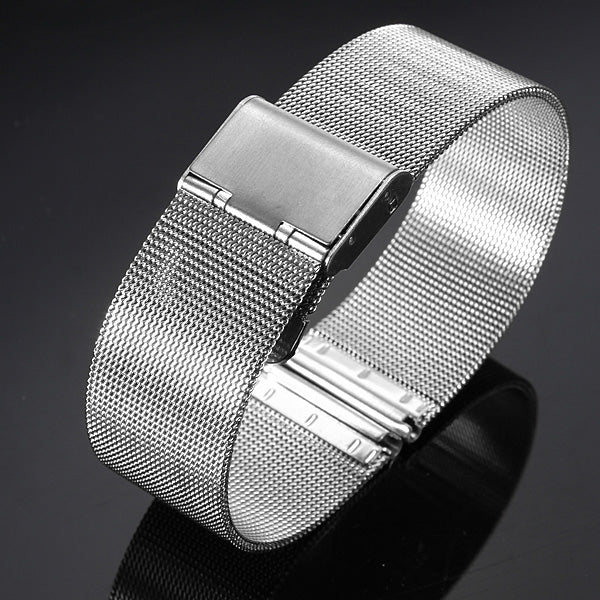 18/20/22/24mm Silver Stainless Steel Mesh Net Watch Band