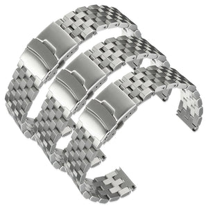 20~24mm Silver Stainless Steel Wrist Watch Strap Band