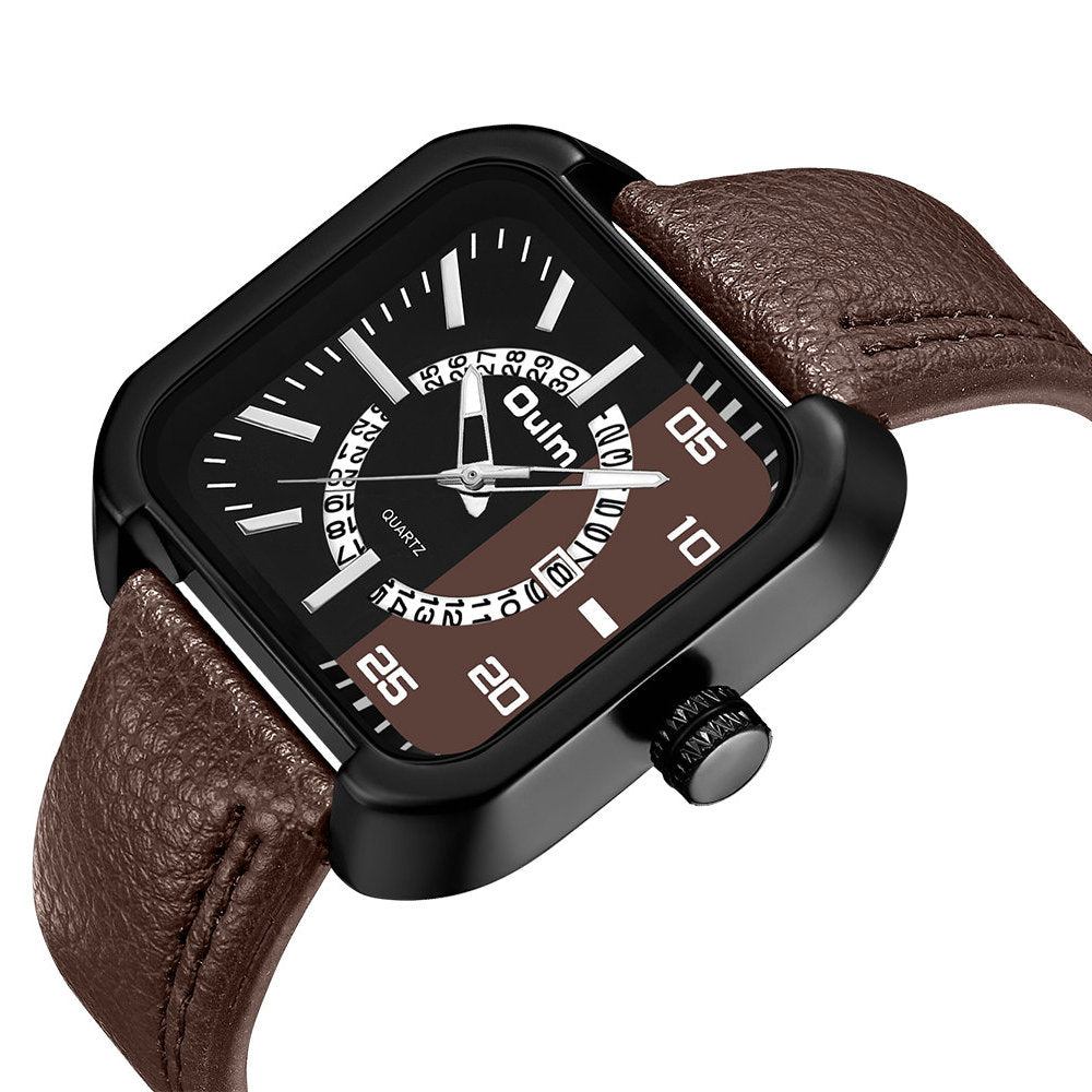 OULM HP3876 Date Display Fashionable Men Wrist Watch