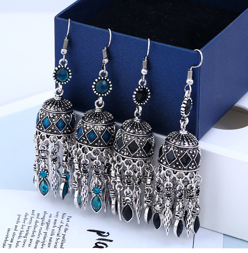 Ethnic Silver Earrings