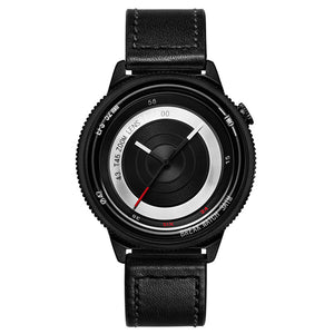 BREAK T45 Unique Style Unisex Watch Leather or Rubber Strap Quartz Wrist Watch