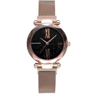 Fashion Star Magnetic Milanese Steel Band Women Quartz Watch