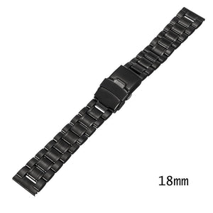 18/20/22/24mm Stainless Steel Double Lock Flip Watch Band