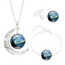 Load image into Gallery viewer, Ethnic Starry Necklace Bracelet Earrings Set