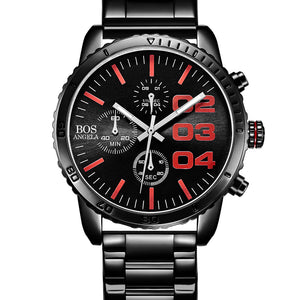 ANGELA BOS 8013G Luxury Timer Men Quartz Wrist Watch