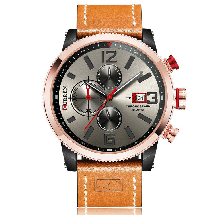 CURREN 8281 Working Little Dials Chronograph Quartz Watch