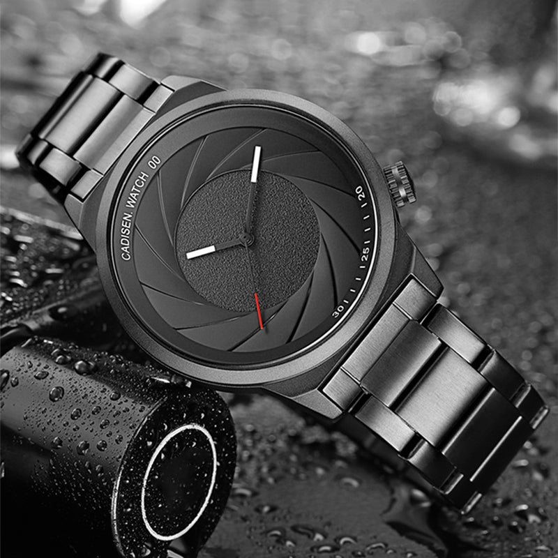 Creative Camera Aperture Dial Men Quartz Watch