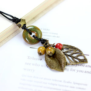 Cheap Ethnic Pendant Handmade Beads Necklace For Women