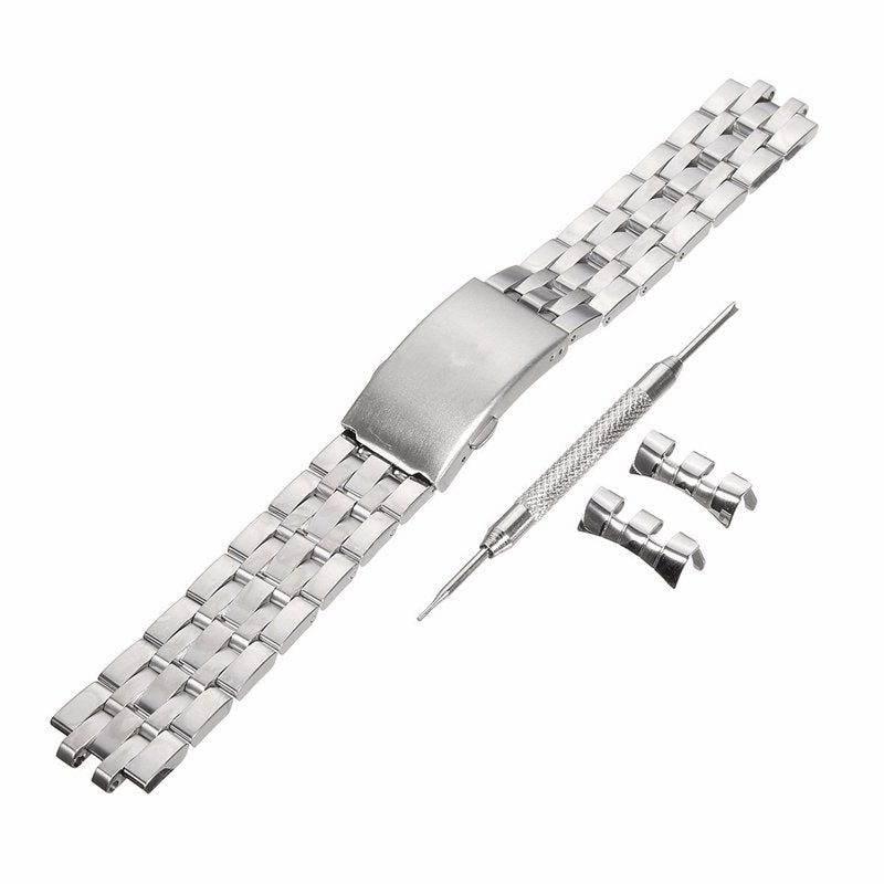 19mm Replacement Stainless Steel Watch Band With Screwdriver