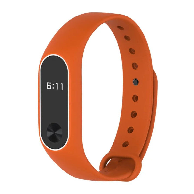 DEFFRUN Double Color Replacement Silicone Wrist Strap for XIAOMI Miband 2