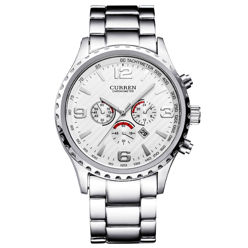 CURREN 8056 Full Steel Business Style Men Wrist Watch