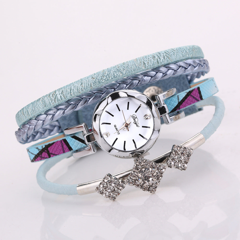 DUOYA D255 Flower Dial Show Fashionable Women Bracelet Watch