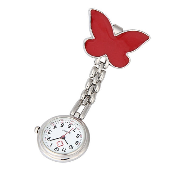 Butterfly Nurse Brooch Watch