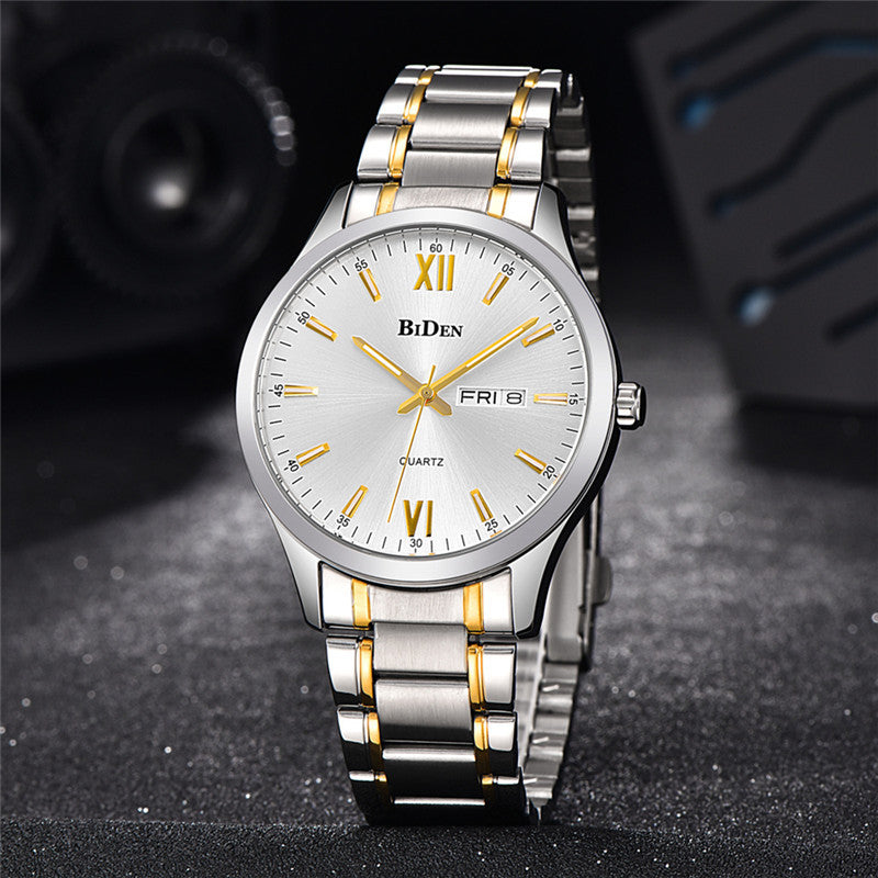 BIDEN 0032 Full Steel Waterproof Casual Style Men Watch
