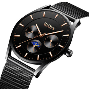 BIDEN 0122 Ultra Thin Dial Case Business Style Men Watch