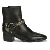 Saint Black Leather Ankle Boot
