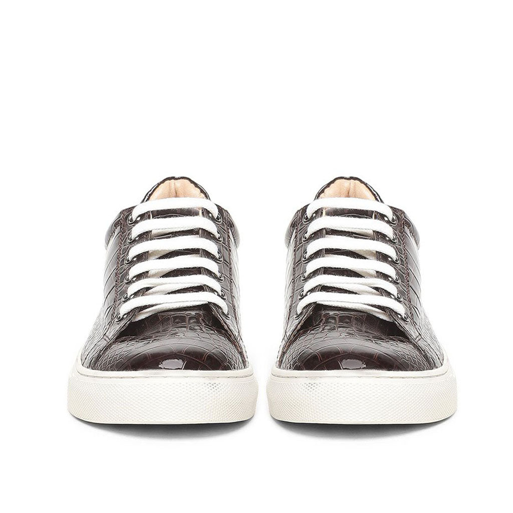 Saint Maeve Brown Leather  Sneakers.