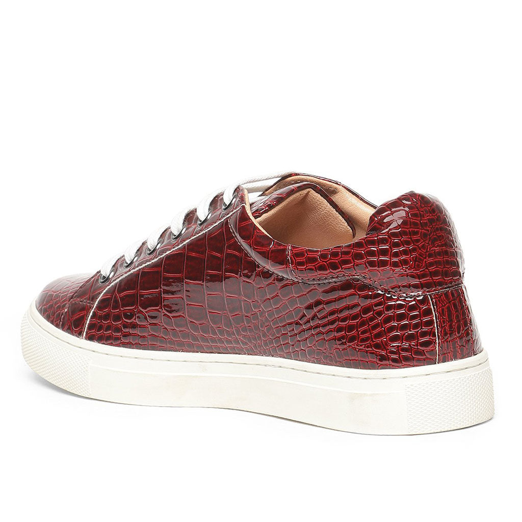 Saint Blaise Red Leather  Sneakers.