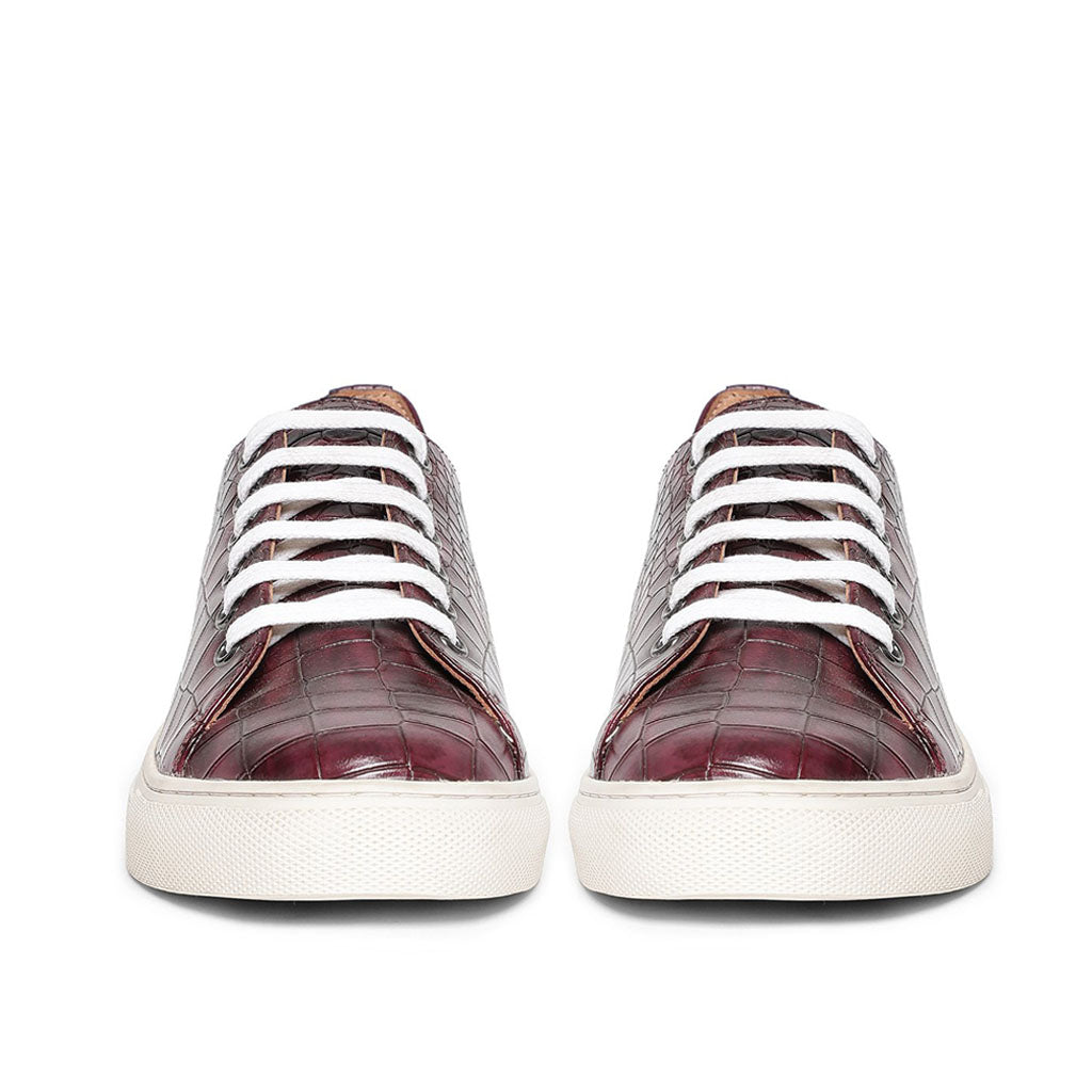 Saint Flavia Burgundy Leather  Sneakers.