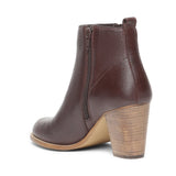 Saint Alexa Brown Leather Ankle Boots