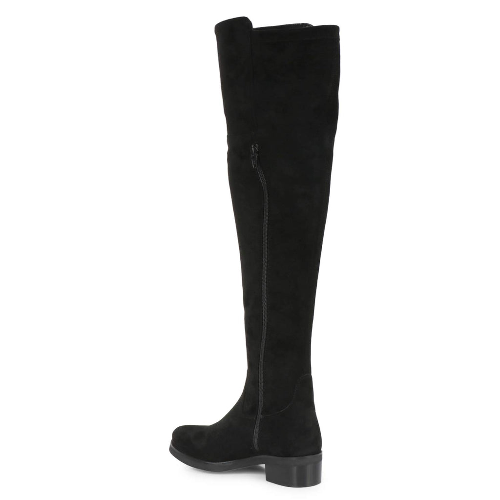 Saint Alicia Black Strech Suede above the knee boots - SaintG