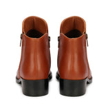 Saint Concetta Tan Leather Handcrafted Both Side Zipper Ankle Boots