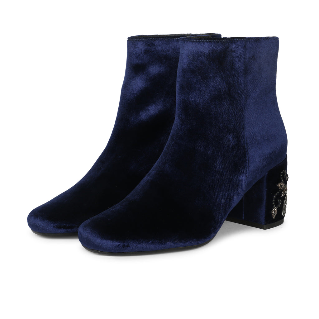 Saintg Blue Suede Leather Ankle Boot