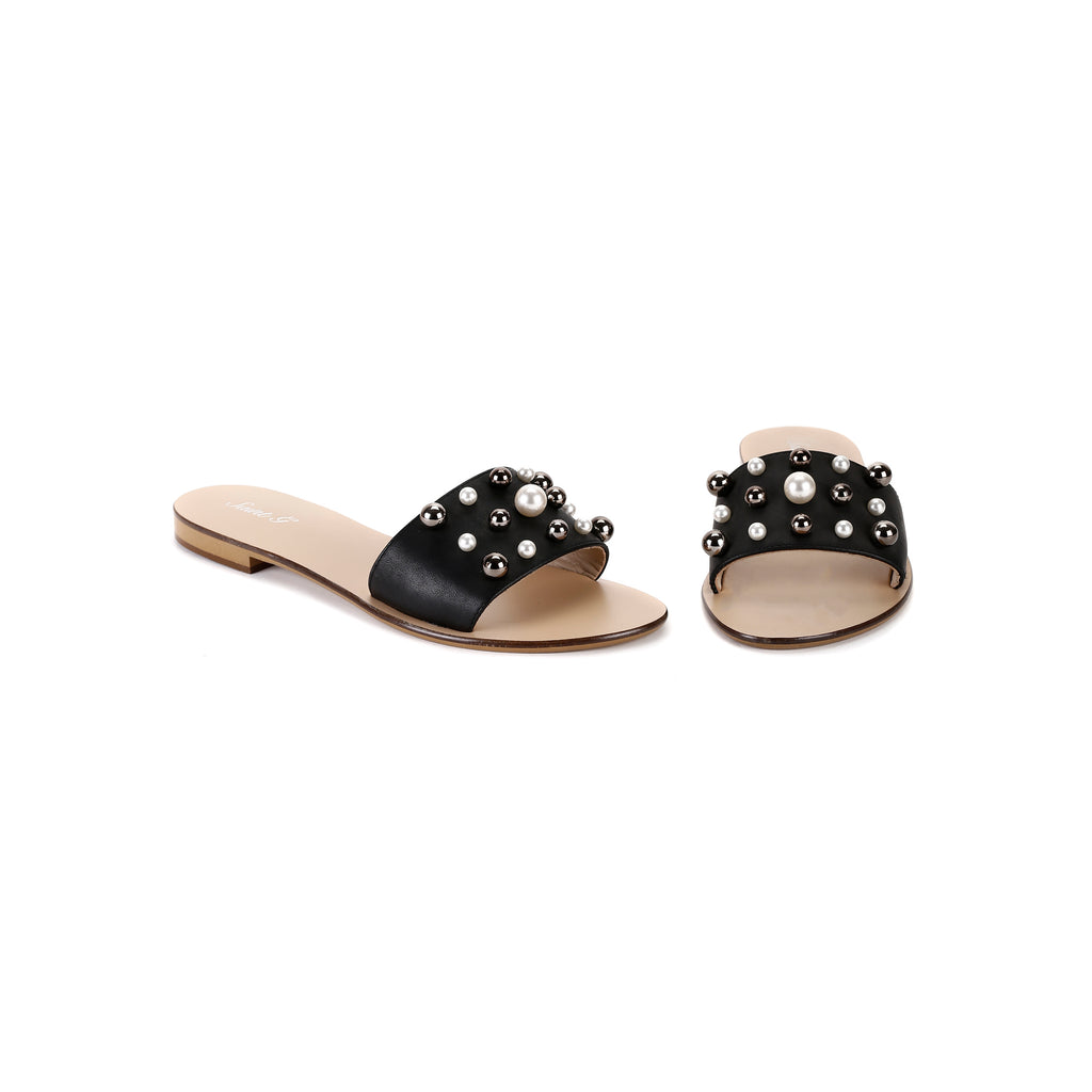 Justine Slides Black - SaintG India