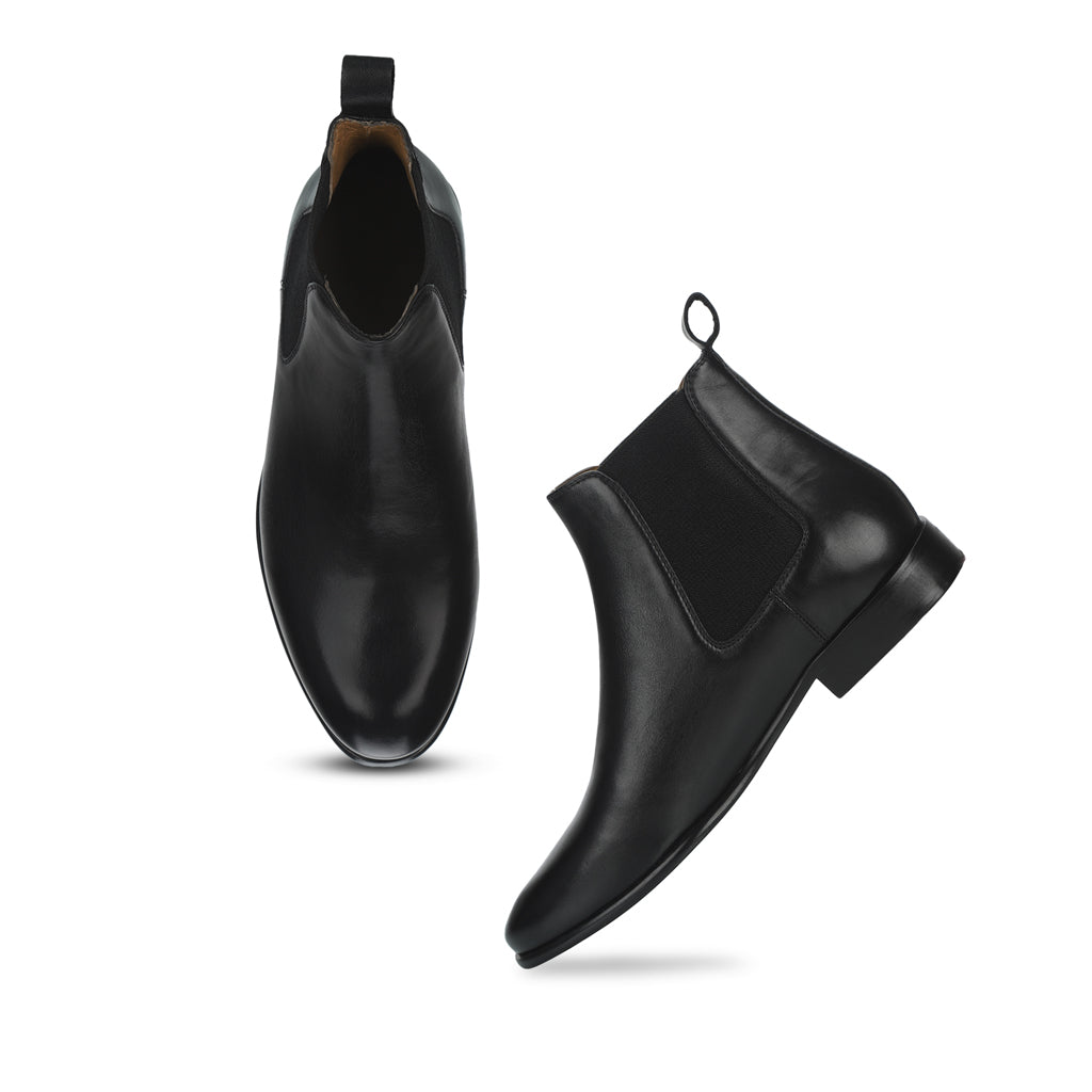 Saint Lorenzo black  leather Chelsea boot - SaintG India