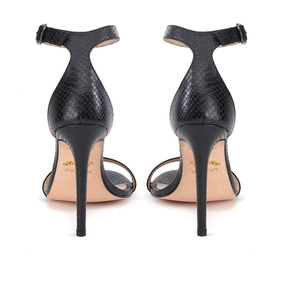 Saint Elyse Black Leather Heel - SaintG
