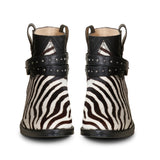 Saint Federica Zebra Printed Leather Ankle Boot - SaintG India