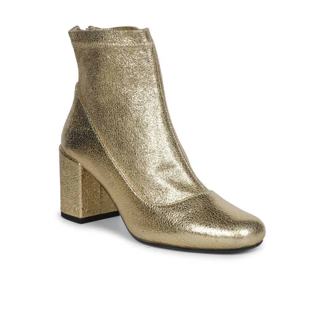 Saint Gold Leather Ankle Boot