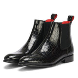Saint Eadred Black Croco Patent Shiny Leather With Set