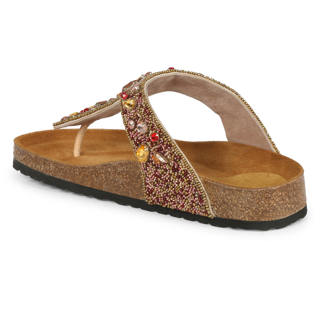 Saint Fadil Tan Leather Flat - SaintG