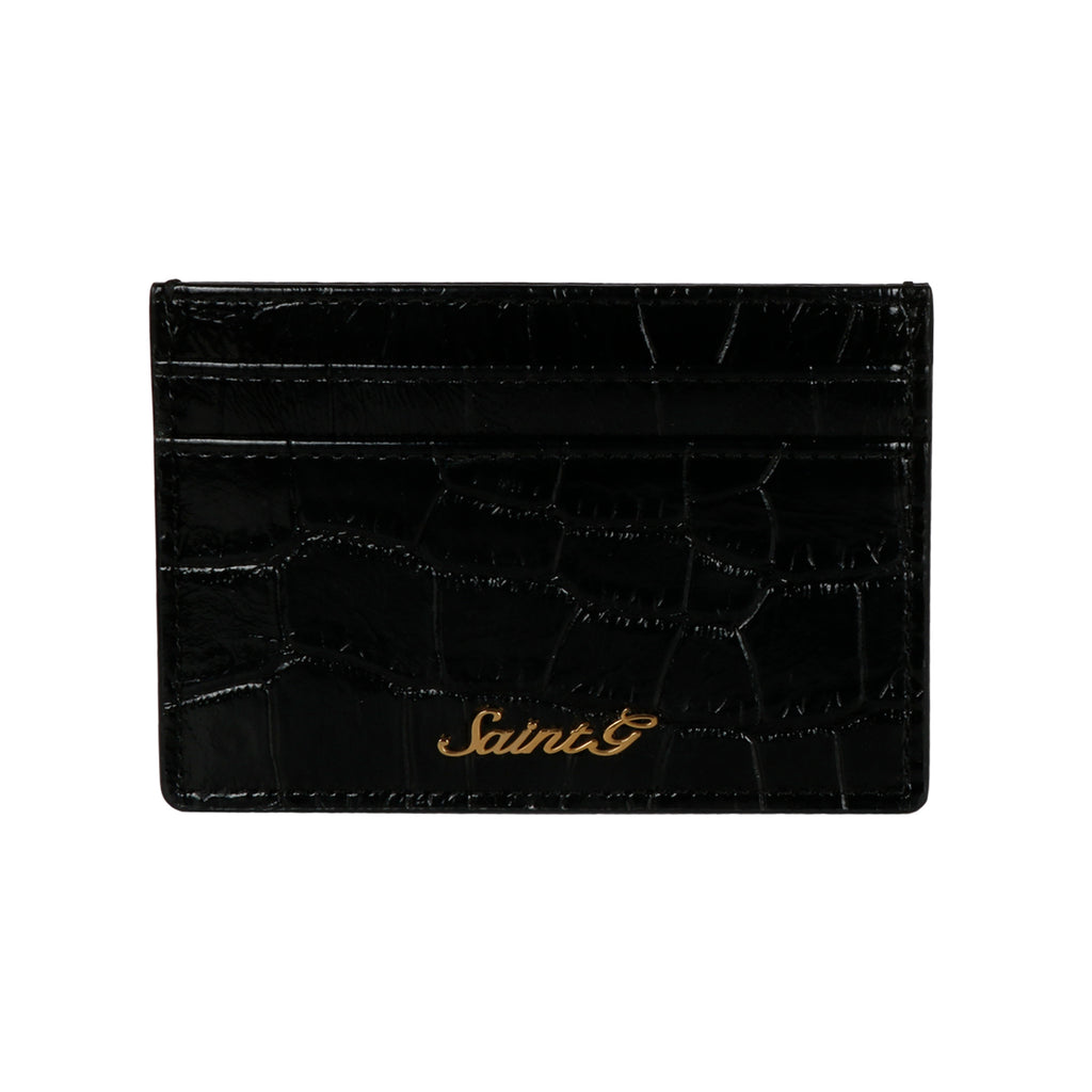 Saint Callisto Black Croco Leather Embossed With Set