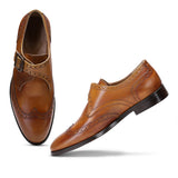 Saint Salvador Tan Leather  Monk Brogue - SaintG