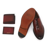 Saint G Bordo Color Leather Boot With Set