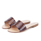 Saint Verena Snake Print Brown Leather - SaintG