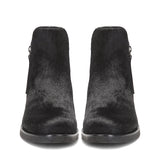 Saint Genevria Black Pony Hair Leather Ankle Boot