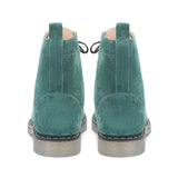 Saint Delfina Green Suede Leather Ankle Boot