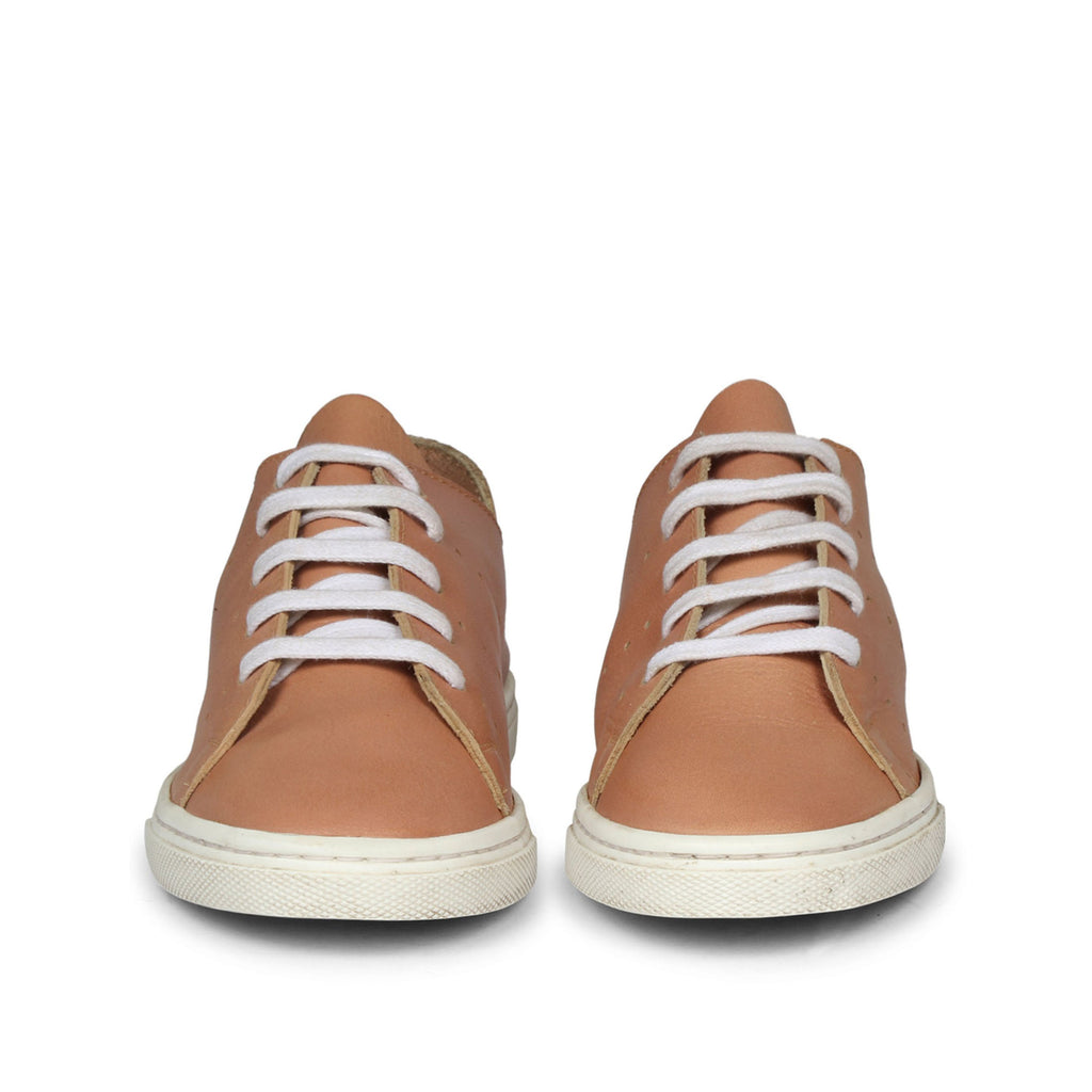 Saint Juliette Tan Leather  Sneakers. - SaintG