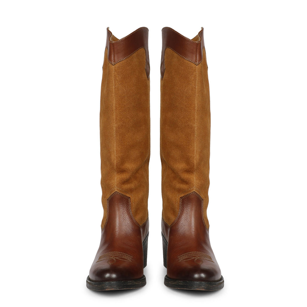 Saint Geox Women Brown Leather Long Boot