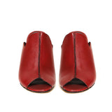 Saint Amor Red Leather Block Heel - SaintG India