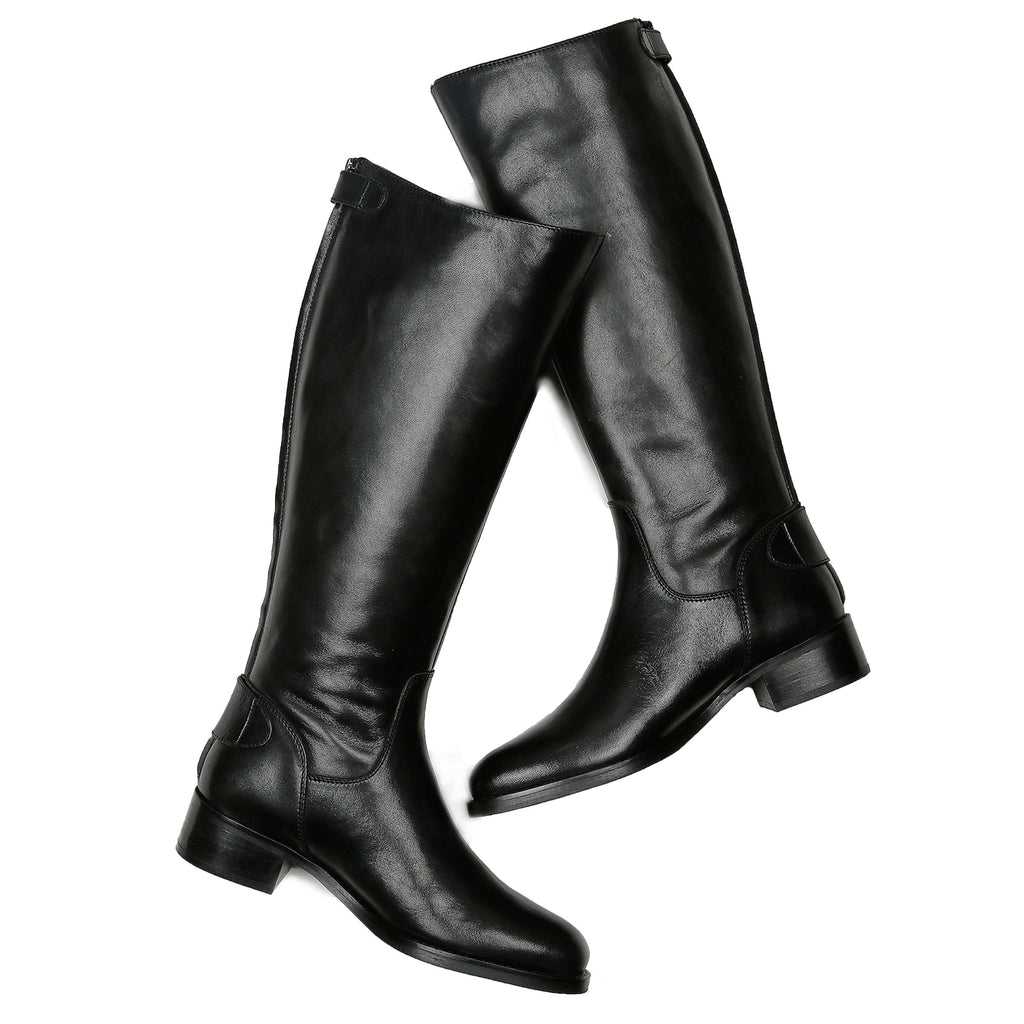 Saint Stella Black Leather Long  Boots - SaintG India