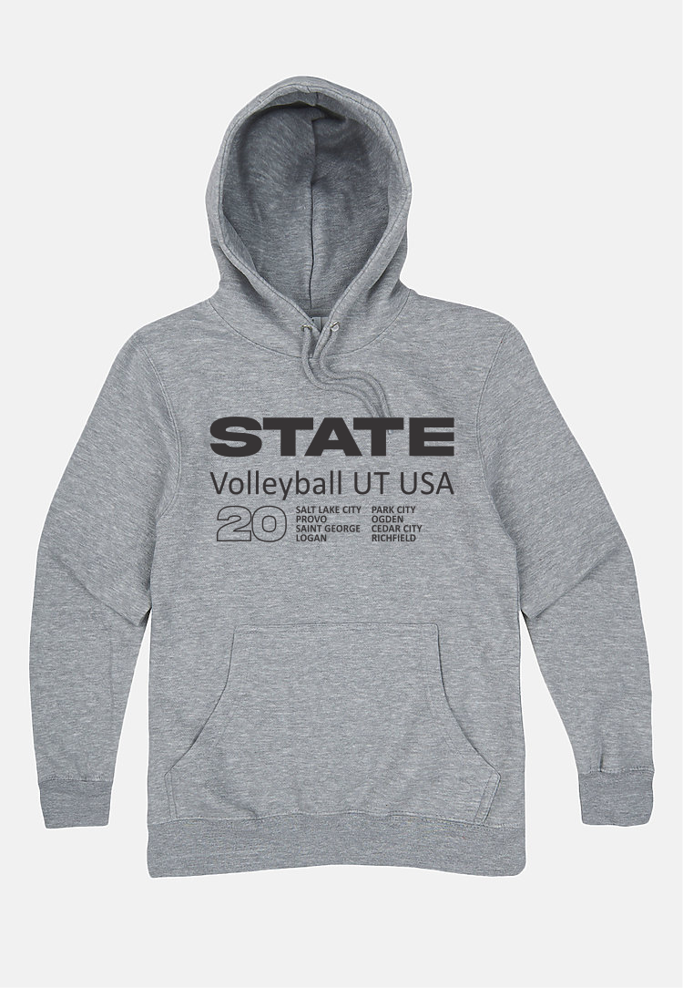 Volleyball Hoodie Athlectic Grey
